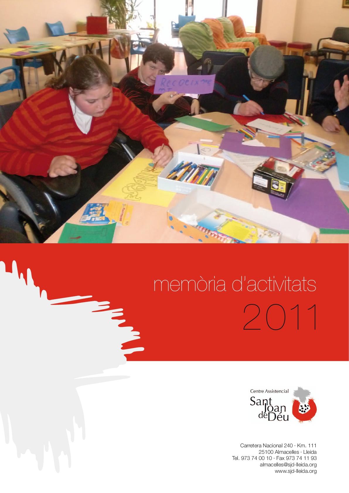 Memòria d'activitats de 2011